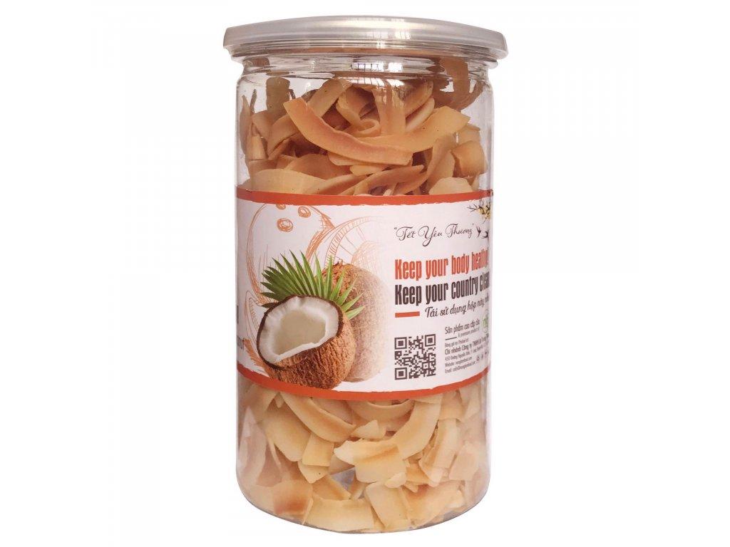 kokosove chipsy prazene100g
