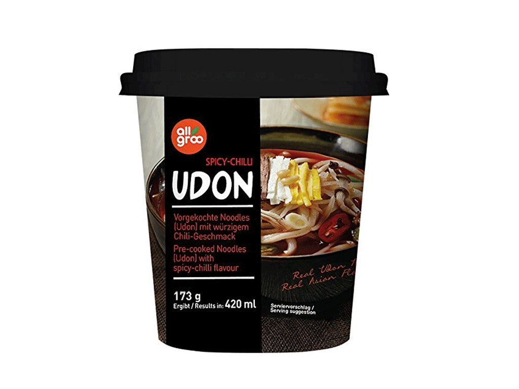 allgroo udon cup spicy chilli 173g