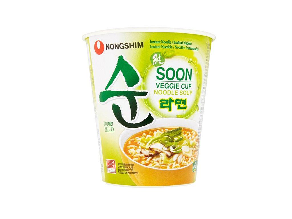 NongShim instantní polévka Veggie Soon v kelímku 67g
