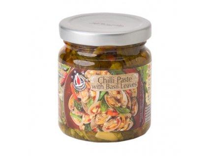 flying goose chilli pasta s bazalkovymi listy 180g