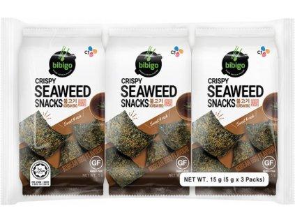 bibigo prazena morska rasa snack korejska bbq prichut 15g 3x5g