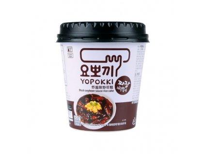 yopokki cup korejske ryzove kolacky s omackou z cernych fazoli 140g