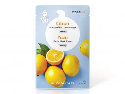 Pleťová maska Yuzu Detoxing MAISON DE CORÉE 23g