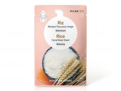 Pleťová maska Rice Whitening MAISON DE CORÉE 23g