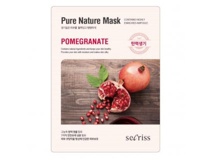 Pleťová maska Pomegranate Secriss Pure Nature Mask 28g
