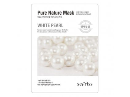 Pleťová maska White Pearl Secriss Pure Nature Mask 28g