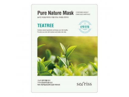 Pleťová maska Tea Tree Secriss Pure Nature Mask 28g