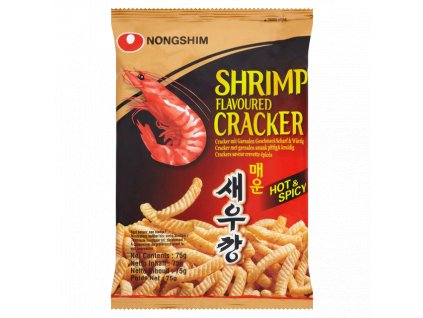 nong shim shrimp cracker hot 75g