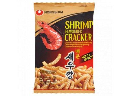 nong shim shrimp cracker hot 75g