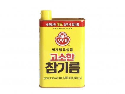 Ottogi sezamový olej plech 1L