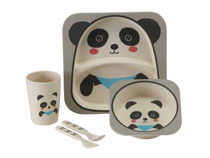 ca303028 detsky set nadobi vango bamboo panda bila seda bamboo panda