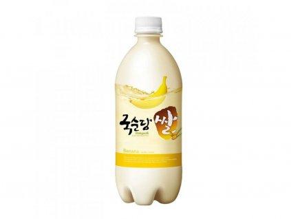 Makgeolli (Makkoli) tradiční korejské rýžové víno s banánovou příchuti 4% 750ml