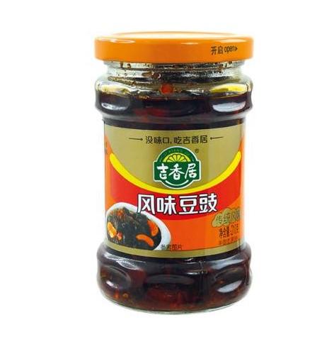 Ji Xiang Ju Omáčka z fermentovaných černých fazolí s chilli 210g