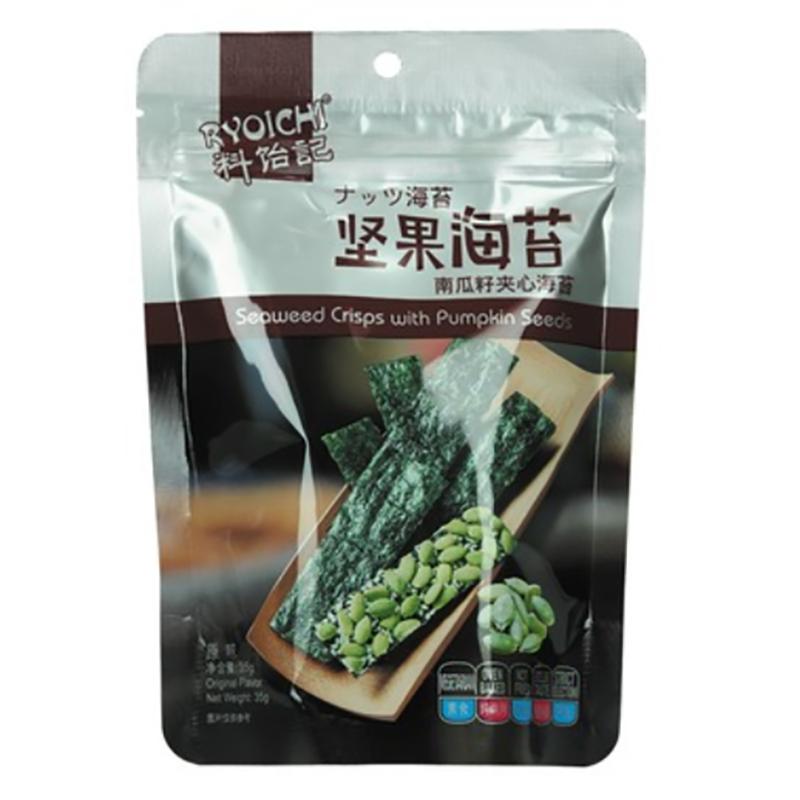 Levně Ryoichi Rynoichi křupavá mořská řasa snack s dýňovými semínky 35g
