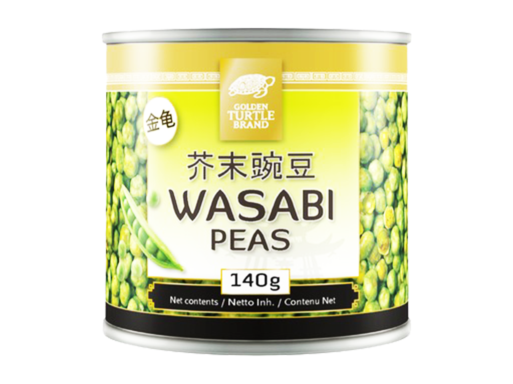 Golden Turtle zelený hrášek ve wasabi 140g
