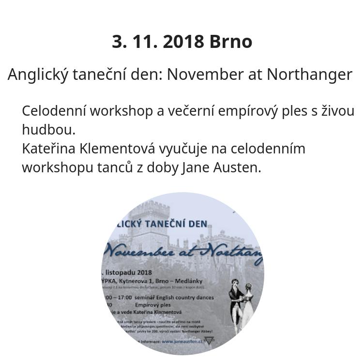 Anglický taneční den - workshop a ples