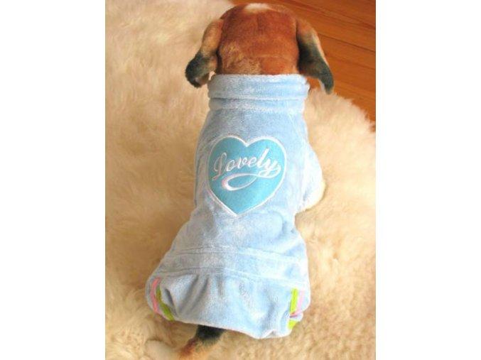 modrý obleček pro psa