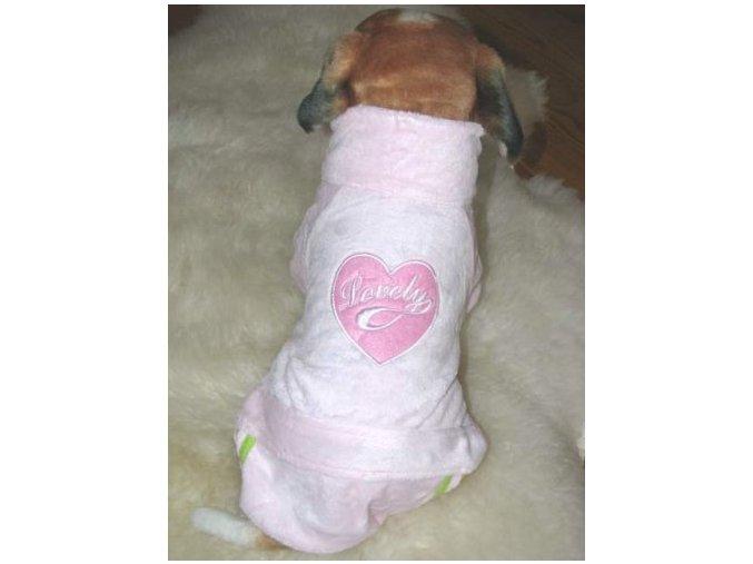 Příjemný, sametový, overalový obleček pro psa.