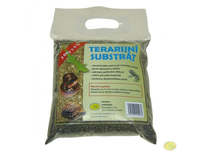 Terarijní substrát 3 litry