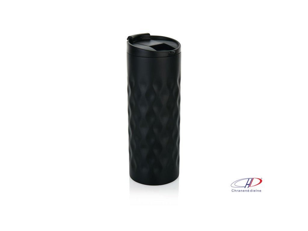 Termohrnček s geometrickým vzorom (350 ml) , Black
