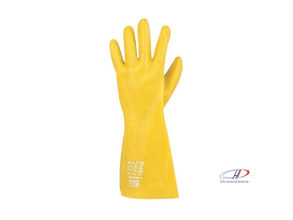 Rukavice STANDARD žlté 09