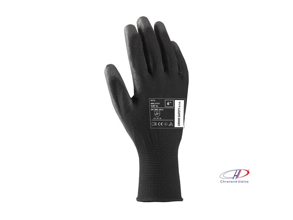 Rukavice XC7e čierne 07