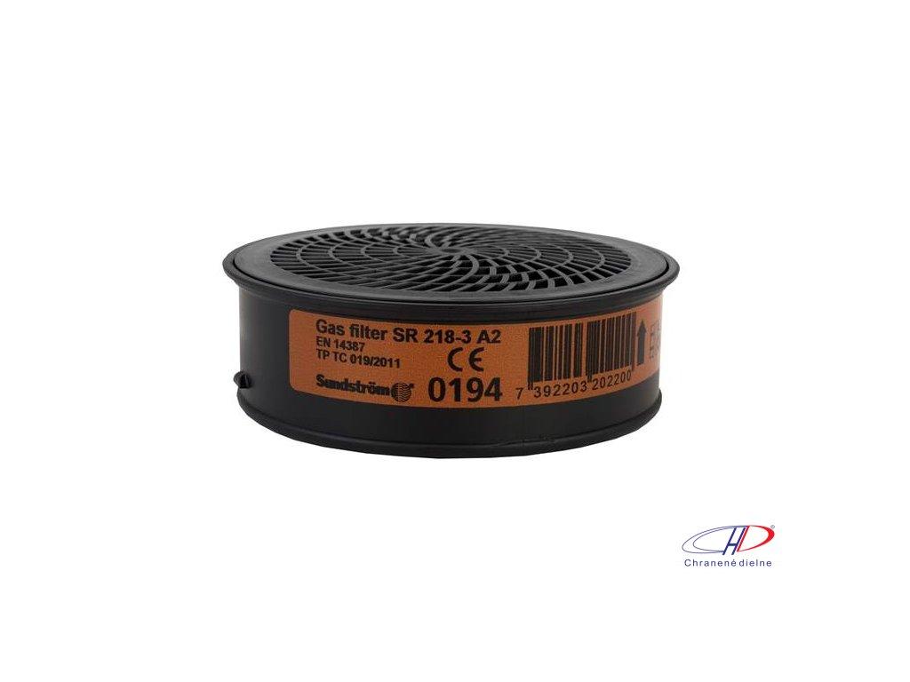 Filter SUNDSTRÖM SR 218-3 A2 - pre polomasky a celotvárové masky