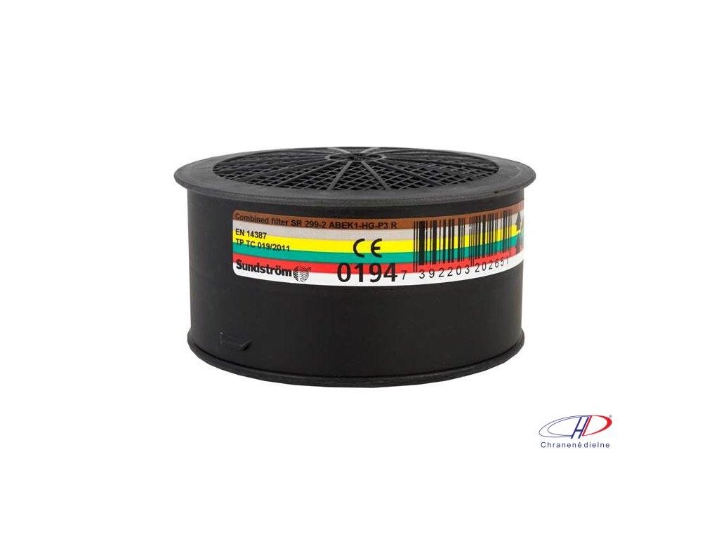 Filter SUNDSTRÖM SR 299-2 ABEK1HgP3 - pre polomasky a celotvárové masky