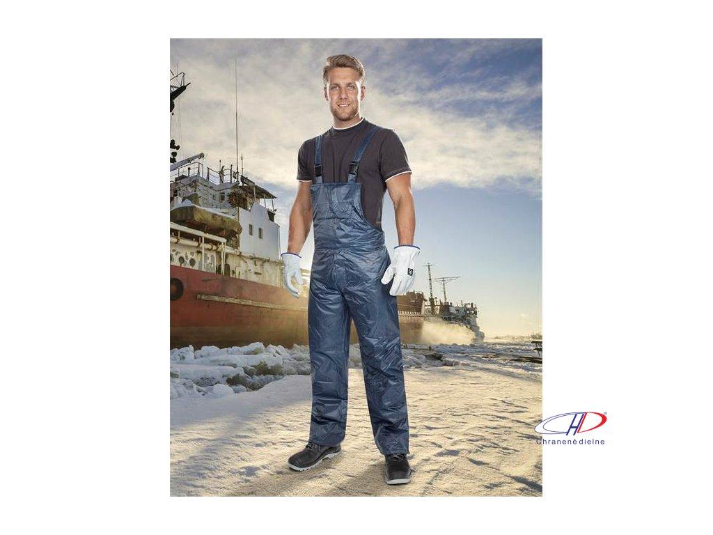 Nohavice s náprsenkou zimné BC 60 K, modré L