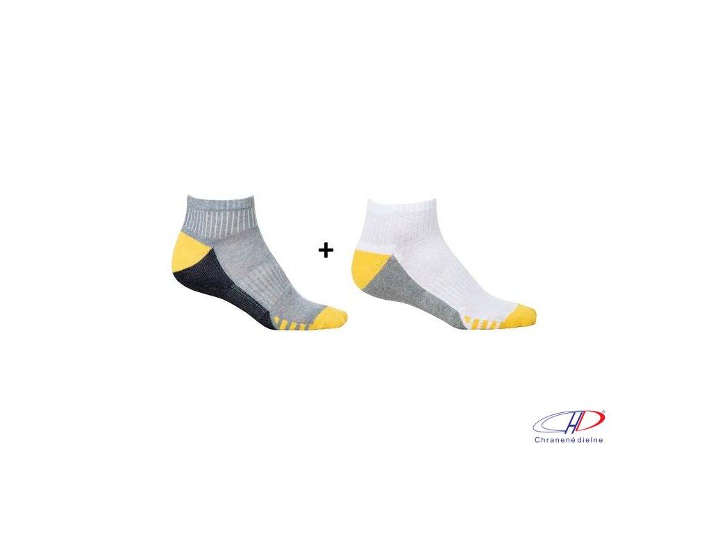 Ponožky DUO YELLOW, 2 páry v balení 36-38