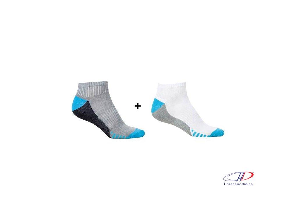 Ponožky DUO BLUE, 2 páry v balení 36-38