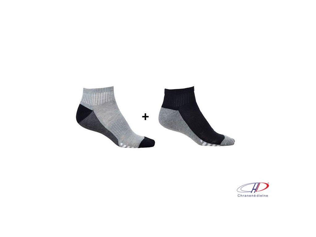 Ponožky DUO GREY, 2 páry v balení 36-38