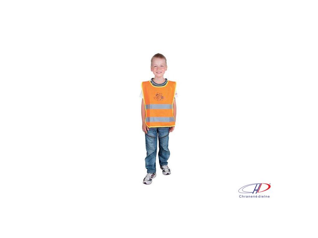 Detská reflexná vesta ALEX oranžová M