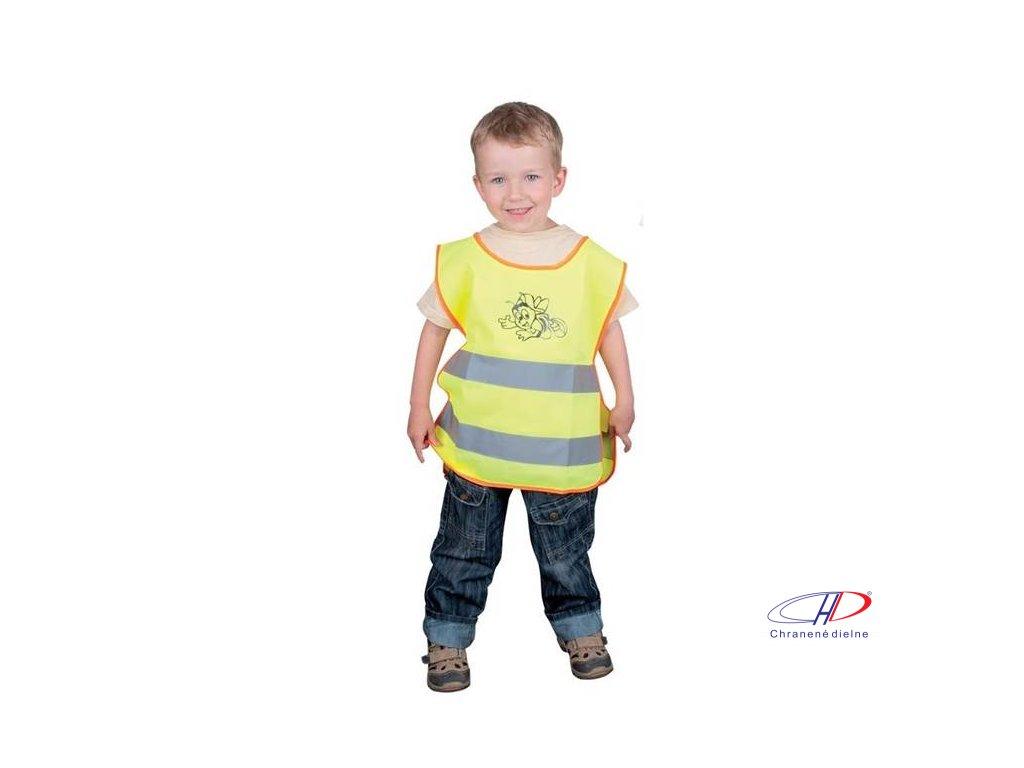 Detská reflexná vesta ALEX žltá M