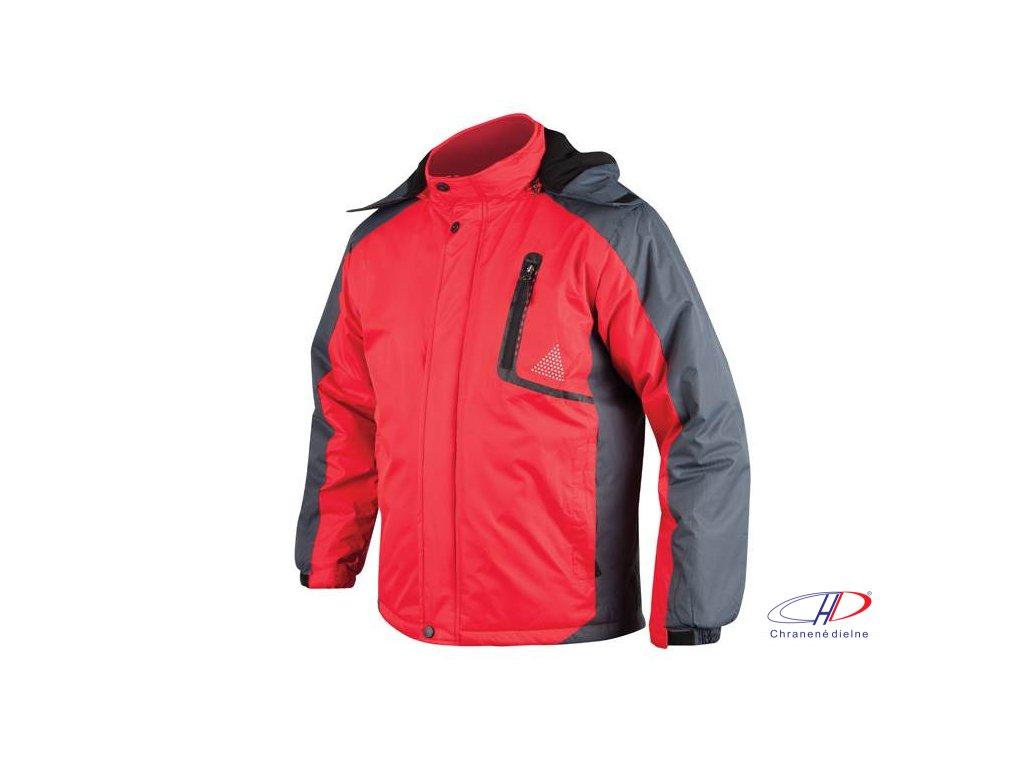 YORK páns. zim. bunda červeno-sivá M
