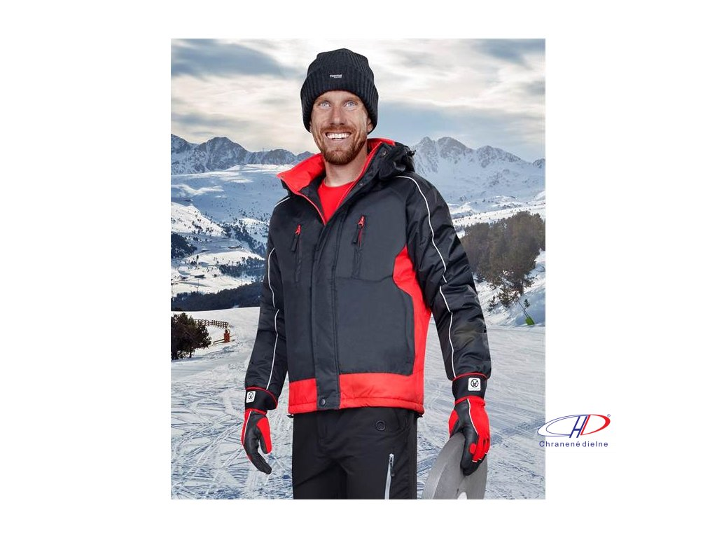 ARPAD pán. zim. bunda čierno-červená M