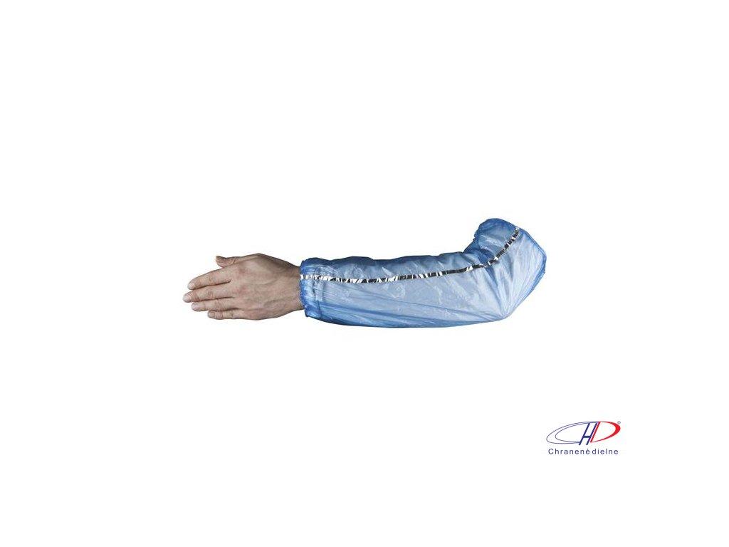 Detegovateľný PE rukávnik SKIN, 100ks/balenie, modrý B