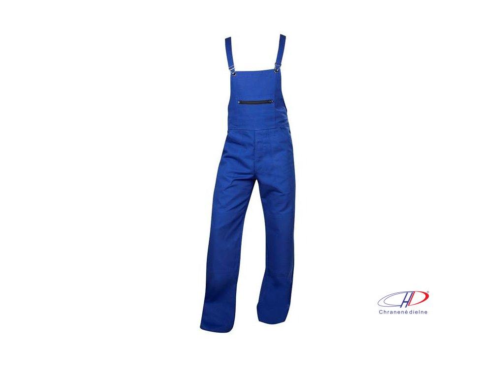 Nohavice s náprsenkou dámske KLASIK stredne modré 54