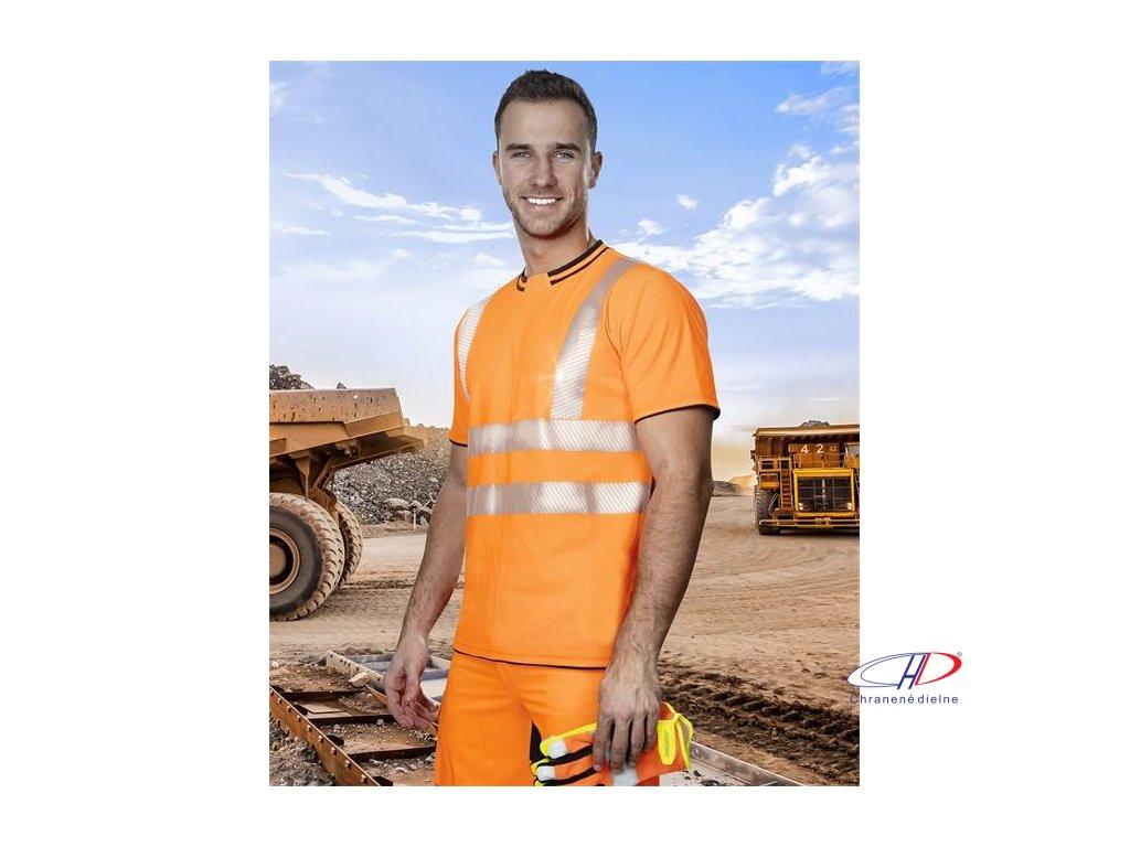 Tričko hi-viz oranžové SIGNAL S