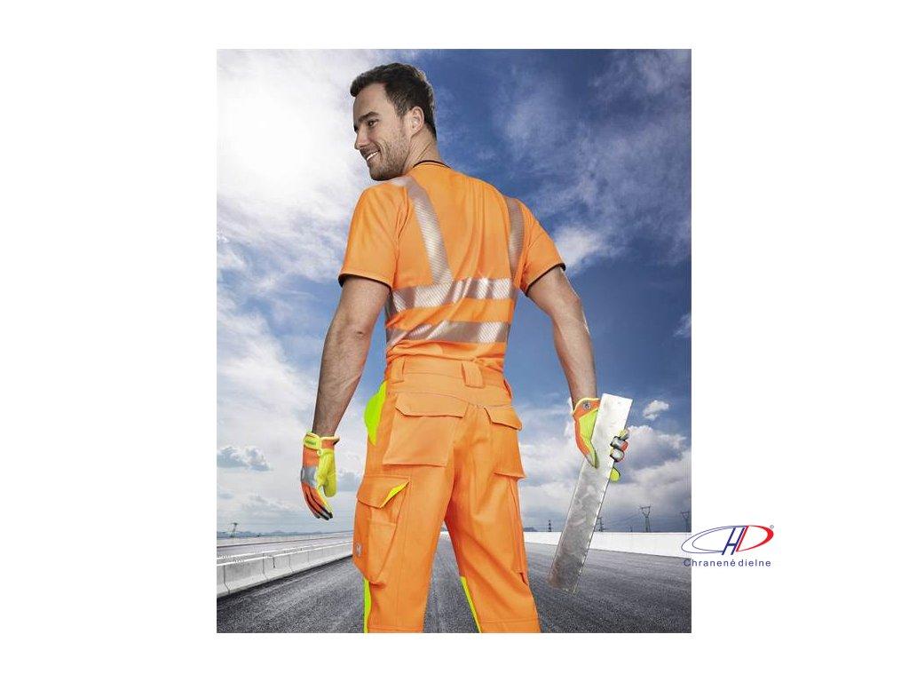 Nohavice do pása SIGNAL predĺžené oranžové S