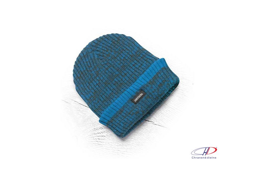 Zimná čiapka pletená + flísová podšívka Vision Neo modrá