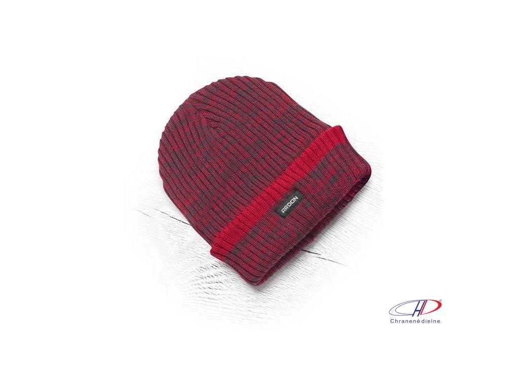 Zimná čiapka pletená + flísová podšívka Vision Neo červená