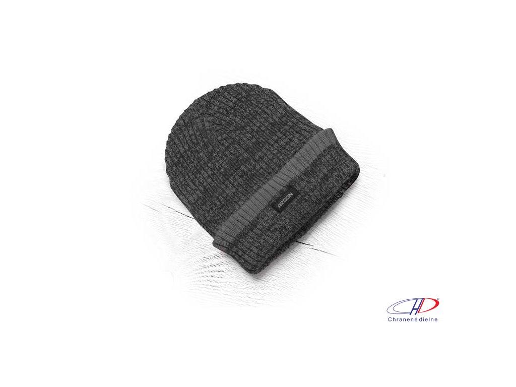Zimná čiapka pletená + flísová podšívka Vision Neo čierno/sivá