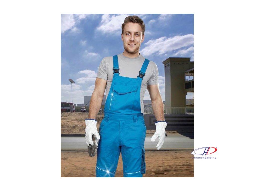 Nohavice s náprsenkou SUMMER short modrá S