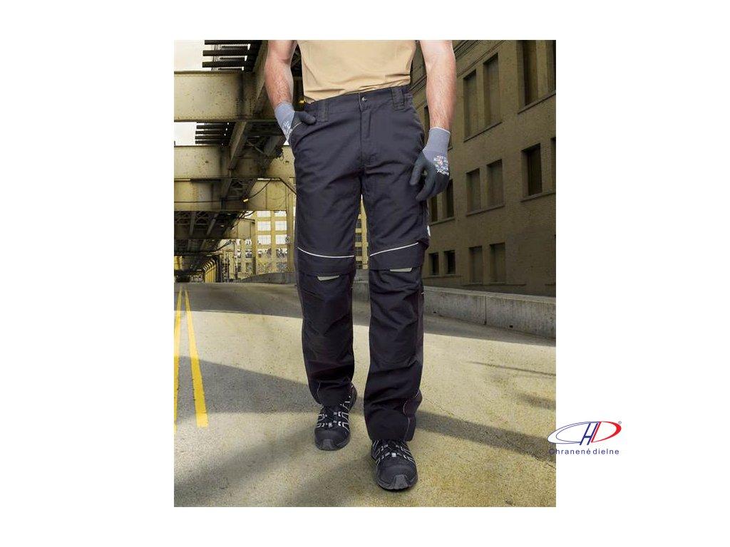 Nohavice do pása URBAN čierno-sivé 46