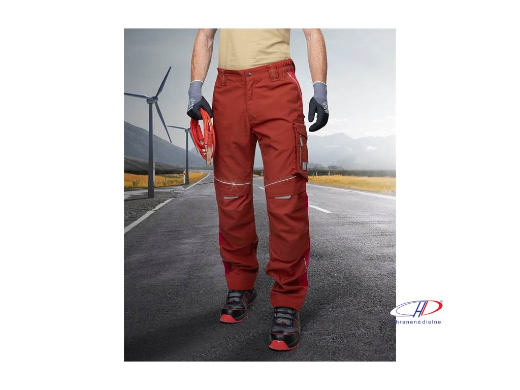 Nohavice do pása URBAN červené - 170-175 cm M
