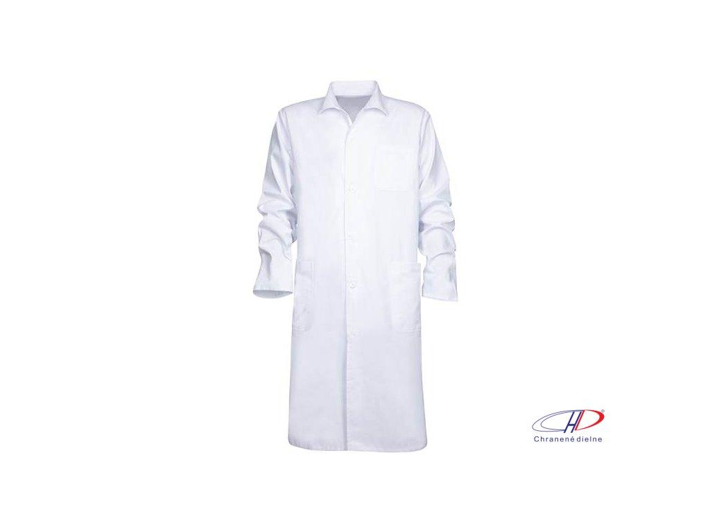 Plášť pánsky ERIK dl. rukáv biely 56