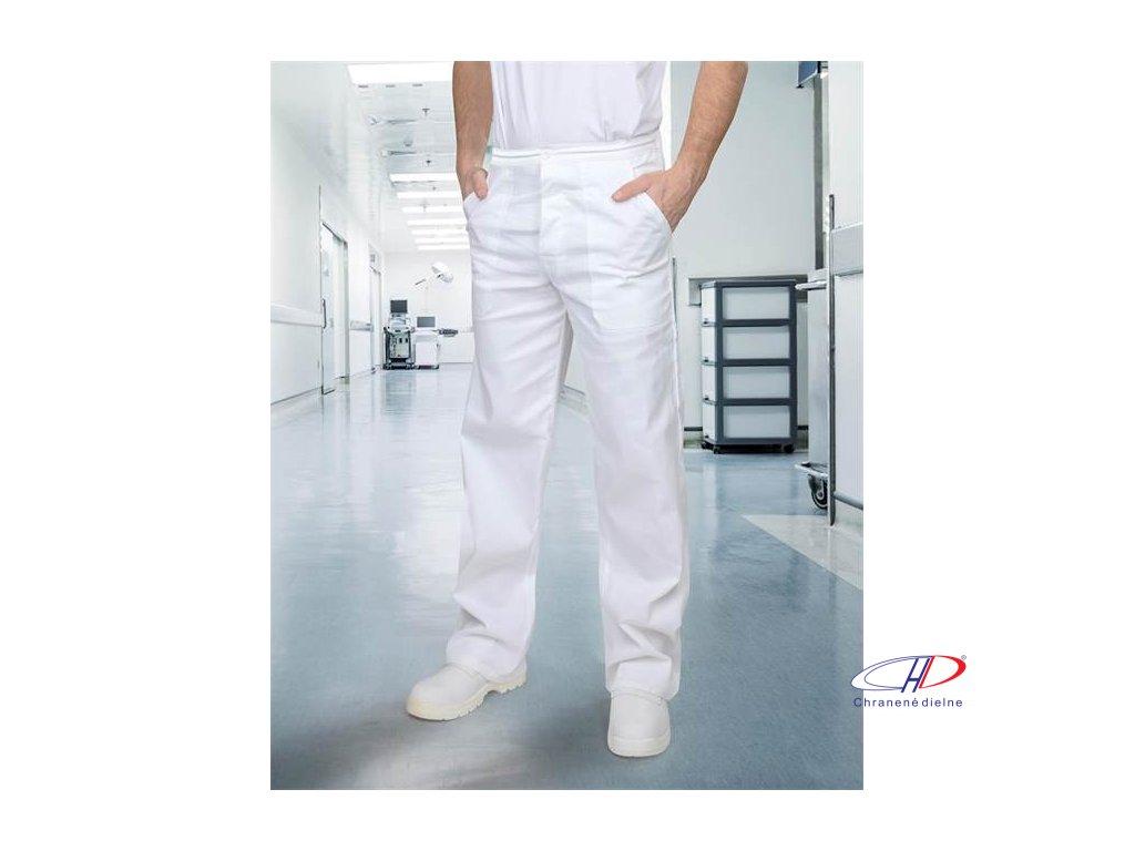 Nohavice pánske SANDER biele 56