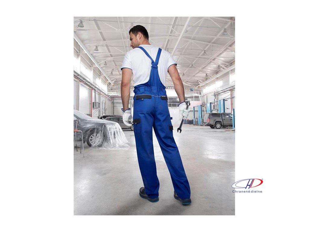Nohavice s náprsenkou COOL TREND modré 58