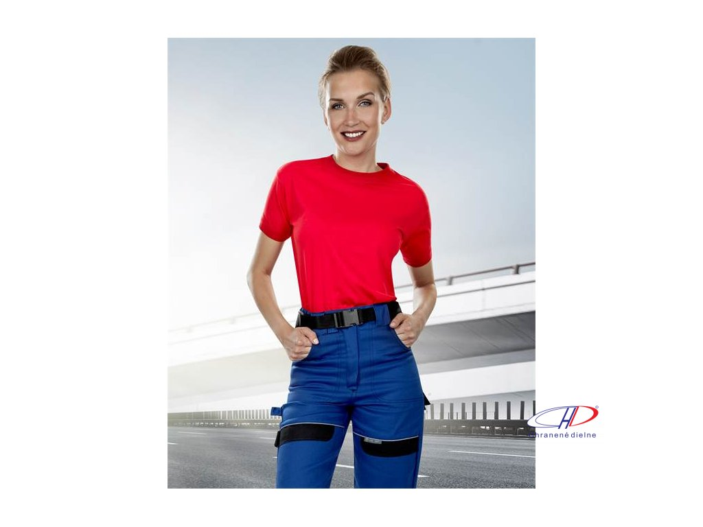 Nohavice do pása COOL TREND dámske modro-čierne 38